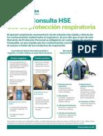 HSE Uso protección respiratoria