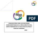 Convocatoria a Elecciones Complementarias Facultad de LL.CC.HH. 2018