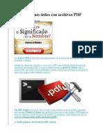 10 Operaciones Útiles Con Archivos PDF