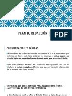 Plan de Redacción - PSU Lenguaje
