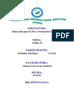 Unidad IV Educacion Para La Paz y Formacion Ciudadana