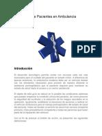 Transporte de Pacientes en Ambulancia Terrestre