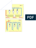 circuitos  de instalación de lamparas