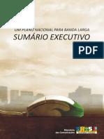 Plano Nacional de Banda Larga (Sumário Executivo)