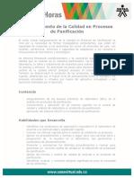 Aseguramiento Calidad Procesos Panificacion