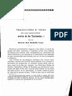 Lenz, Rodolfo 1912 Tradiciones e Ideas de Los Araucanos Acerca de Los Terremotos