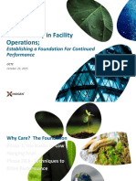 Sustainability in Facility Operation