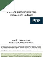 El Diseño en Ingeniería y Las Operaciones Unitarias