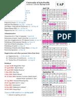 Academic Calendar Spring 2018 FINAL