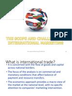 1. Scope and Challenge of International Marketing