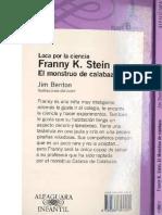 Locaporlacienciafranny k. Stein El Monstruodelacalabaza