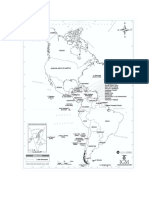 mapa Amércia