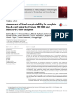 Assessment of Blood Sample Stability for Complete Blood Count