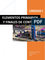 Unidad i Elementos Primarios y Finales de Control