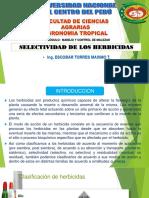 Expocicion de Selectividad de Los Herbicidas