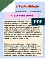 Texto e Textualidade(1)