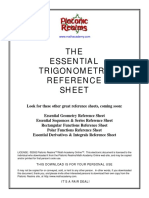 Essential Trig Reference Sheet