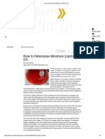 How to Determine Moisture Limits in Oil