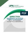 05 Directiva Que Establece Las Politicas y Lineas de Investigacion