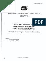 COBRTI INSTAL Zeszyt 9_Sieci Kanalizacyjne