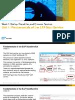 OpenSAPStartup, Dispatcher, And Enqueue Services