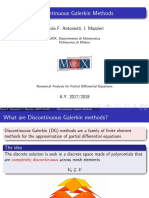 Course Material on Dg Methods