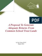 2018-03 common school trust lands report