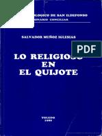 MUÑOZ IGLESIAS Lo religioso en El Quijote