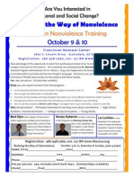 Kingian Nonviolence Training (Oct 9 & 10) flyer