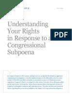 White Paper Congressional Subpoena