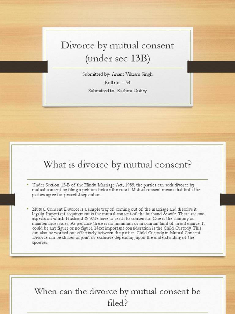 divorce under section 13