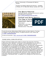 The Sports Historian Volume 20 Issue 2 2000 [Doi 10.1080_17460260009443368] Hadas, Miklós -- Football and Social Identity- The Case of Hungary in the Twentieth Century