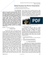 A Review on Hybrid System for Power Generation
