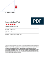 Value Research Fundcard - Invesco India Growth Fund-  2018 Mar 24