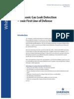 Ultrasonic Gas Detection