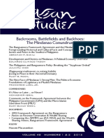 Backrooms, Battlefields and Backhoes the Mindanao Conondrum