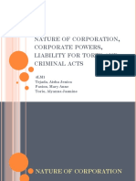 Liability of Corporations for Torts 1