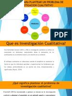 Elementos Para Plantear Un Problema de Investigacion Cualitativo