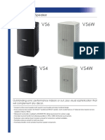 Yamaha vs Series 70v 100v Surface Mount Speaker Pair Specifications