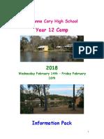 2018 Camp Information Booklet