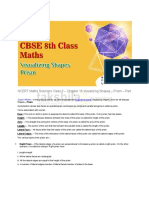 Visualizing Shapes Prism Chapter 16 for Maths NCERT Solutions Class 8