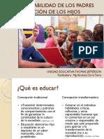 Corresponsabilidad de Los Padres en La Educación de Los Hijos