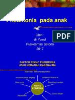 9. Pneumonia Pada Anak
