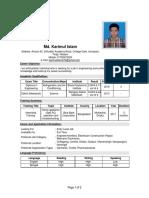 Karimul CV