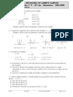 M23_Ficha de Trabalho - Funcao Quadratica (Alberto Sampaio)