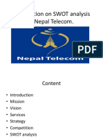 Presentation on SWOT Analysis of Nepal Telecom