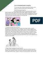 10 Contoh Cara Berbakti Kepada Orang Tua