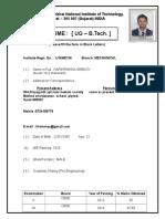 Format of UG (B.tech.)