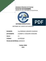 Informe Cuentas de Grupos Linux