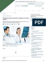 Diagnóstico de La Esclerosis Múltiple (en Niños y Adutos) - Artículos - IntraMed